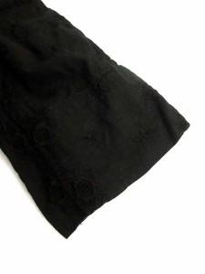 ジュンヤワタナベ JUNYA WATANABE COMME des GARCONS ブラウス 七分袖 刺繍 レース リボン 黒 M /TU レディース