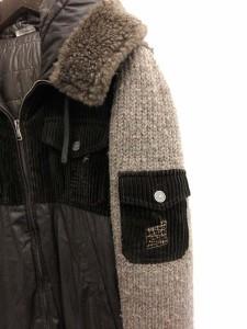 ドルチェ&ガッバーナ ドルガバ DOLCE&GABBANA 中綿ジャケット ニット フード 刺繍 48 茶 /KH メンズ