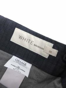 シヴィリア WHITE SIVIGLIA パンツ スラックス 31 ネイビー /TK メンズ