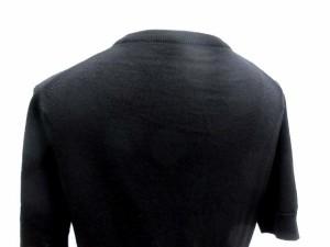 マーガレットハウエル MARGARET HOWELL ニット セーター クルーネック 半袖 黒 /TK レディース ベクトル【中古】