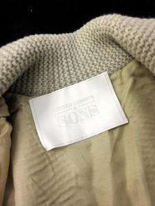 ユナイテッドアローズ UNITED ARROWS SONS  コート ニット ショールカラー ウール S アイボリー /KH メンズ ベクトル【中古】
