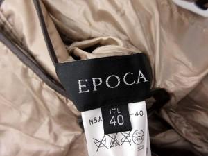 エポカ EPOCA 中綿 コート ロング リバーシブル 豹柄 レオパード 40 ベージュ 茶 /YM レディース ベクトル【中古】