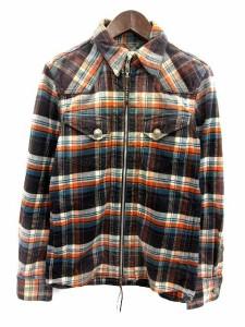 レミレリーフ REMI RELIEF シャツジャケット ウエスタン ジップアップ チェック M マルチカラー /KH メンズ ベクトル【中古】