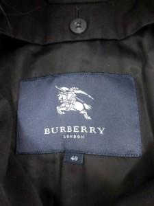 バーバリー BURBERRY トレンチコート フォックスファー ライナー ロング 黒 40 /TU レディース ベクトル【中古】