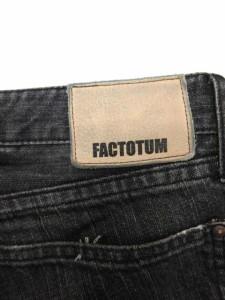ファクトタム FACTOTUM デニムパンツ ジーンズ ストレート ダメージ加工 28 黒 /EK メンズ ベクトル【中古】