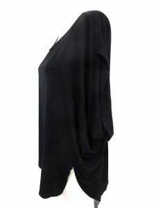 イッセイミヤケ ISSEY MIYAKE カットソー Tシャツ 半袖 2 黒 /☆G レディース ベクトル【中古】