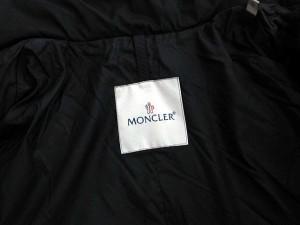 モンクレール MONCLER ダウンコート モンタナ ベルト ロング 0 黒 /☆K レディース ベクトル【中古】