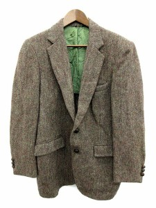 ハリスツイード Harris Tweed テーラードジャケット ウール くるみボタン 茶 ブラウン /MR ●D メンズ ベクトル【中古】