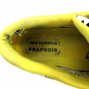 37b147cd39c97 【中古】ニューバランス NEW BALANCE フラボア スニーカー 総柄 26 白 黒 黄色 ホワイト ブラック イエロー ML574FRA メンズ