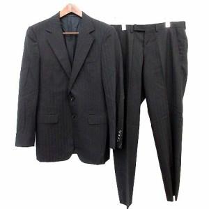94e575196325 グッチ GUCCI スーツ ストライプ セットアップ ジャケット パンツ 46 黒 /☆G メンズ