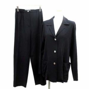 68c41e08a266 マックスマーラ MAX MARA スーツ セットアップ 上下 ジャケット パンツ J38 紺 ネイビー /TK レディース