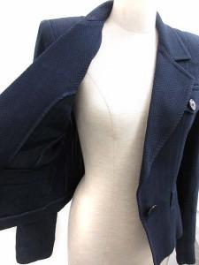 イヴサンローラン YVES SAINT LAURENT スーツ セットアップ 上下 ジャケット スカート 紺 36 /TU レディース