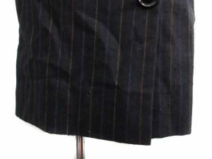 エマニュエル ウンガロ Emanuel Ungaro  コート ステンカラー ロング クレリック カシミヤ ストライプ F 紺 /TS▲H レディース