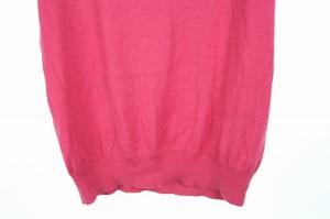 エフデ ef-de ニット セーター リボン ビジュー 半袖 9 ピンク /OY▲H レディース ベクトル【中古】