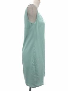 ec2d3a14c9b1d フォクシーニューヨーク FOXEY NEW YORK ワンピース ドレス ノースリーブ ミニ 緑 ミントグリーン 40 レディース ベクトル 中古