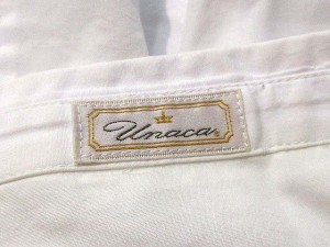 アナカ Unaca シャツ チュニック カットソー 長袖 白 38 レディース