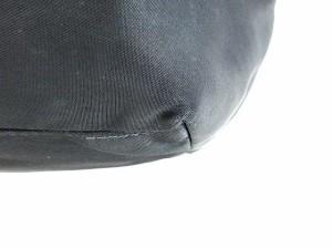 プラダ PRADA トート バッグ ハンド ナイロン ロゴ エナメル 切替 黒 レディース ベクトル【中古】