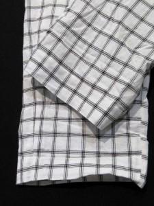 B&Y ユナイテッドアローズ BEAUTY&YOUTH ビューティー&ユース パンツ テーパード アンクル チェック 白 黒 S LEK レディース