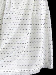 コージワタナベ スティル KOJI WATANABE STYLE ワンピース ドレス リボン シフォン 刺繍 ひざ丈 ノースリーブ 白 11 レディース