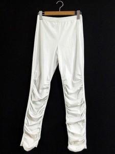 センソユニコ Senso unico t.b レギンス パンツ スパッツ ストレッチ ロング ギャザー 白 40 レディース