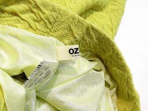 オゾック OZOC スカート ミニ フレア タック イージー 総柄 黄 38 レディース ベクトル【中古】