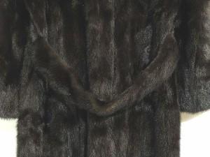 jindo ミンク コート ロング サガミンク ファー 毛皮 113cm丈 茶 10 レディース ベクトル【中古】