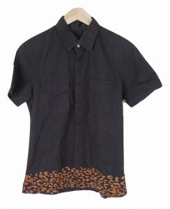 9bce425f069919 【中古】ロアー roar スター 総柄刺繍 半袖シャツ 2 黒 ブラック 綿100