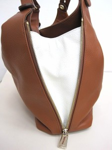 94da1b86fe5f フルラ FURLA エリザベス レザーハンドバッグ ブラウン トートバッグ A4サイズ 鞄 茶×白 レディース