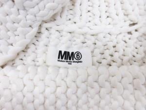 エムエムシックス MM6 ニット ボレロ カーディガン ジャケット 編込み 白 ホワイト レディース ベクトル【中古】