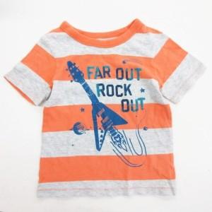 e76652f398835 ベビーギャップ BABY GAP Tシャツ カットソー 半袖 プリント ボーダー柄 ベビー服 サイズ95cm オレンジ キッズ