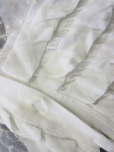 イリアンローブ iliann loeb カーディガン レース フリル ドルマン オーバーサイズ 7分袖 白 0125 レディース