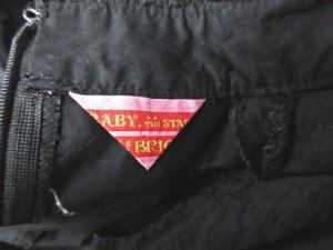 ベイビーザスターシャインブライト BABY,THE STARS SHINE BRGHT ワンピース 2WAY 長袖 半袖 膝丈 レース リボン スタンドカラー 黒 0212