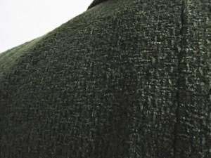 セリーヌ CELINE テーラードジャケット ブレザー ツイード カーキ 38 0305 MMM レディース ベクトル【中古】