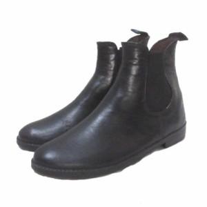【中古】レインファブス RAINFUBS レインシューズ 長靴 レインブーツ サイドゴア 黒 ブラック S 22-23cm X レディース
