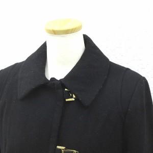 エイチ&エム H&M コート ウール混 ショート丈 黒 ブラック size 38 171017 レディース ベクトル【中古】