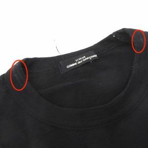 トリココムデギャルソン tricot COMME des GARCONS AD2008 カットソー ウール 無地 クルーネック 長袖 黒 ブラック 171128 レディース