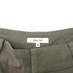 ボールジー BALLSEY トゥモローランド パンツ タック テーパード カーキ size 34 171128 レディース