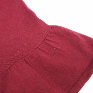 アーバンリサーチ URBAN RESEARCH ニット カットソー 長袖 丸首 フレア ワインレッド size F 180131 レディース ベクトル【中古】