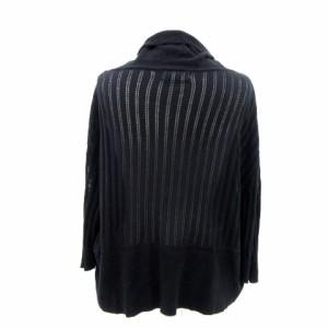 ルゥデルゥ Rew de Rew ニット カーディガン 前開き 七分袖 黒 ブラック size M 180131 レディース ベクトル【中古】