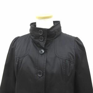 エーティー アツロウタヤマ A/T ジャケット ライナー付き スタンドカラー コットン混 黒 ブラック size 38 180111 レディース