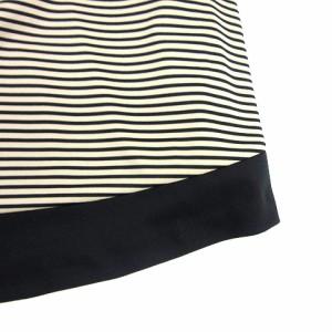 アスプリ スカート ひざ丈 ボーダー ベージュ 黒 180428 レディース ベクトル【中古】