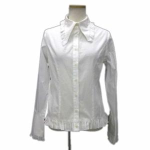 347179a663ece ピースナウ PEACE NOW ドレスシャツ ブラウス ドゥエボットーニ フリル 長袖 白 ホワイト M トップス 正装 王子