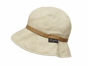 c66ef50650dd 帽子 ハット バケット クロッシェ コットン 綿 麻 無地 テープ 無地 シンプル S ベージュ /KT レディース