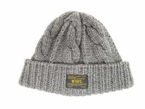 bec84130957583 【中古】ダブルタップス WTAPS 14AW ビーニーキャップ ニット帽 ケーブルニット 帽子 F メンズ