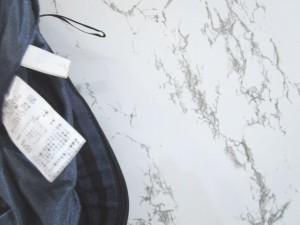 ビス ViS 台形スカート レーヨン混 ボーダー ウエストゴム 紺 黒 M レディース ベクトル【中古】