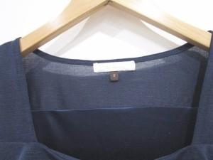 プロポーション ボディドレッシング PROPORTION BODY DRESSING カットソー ブラウス フリル 装飾 長袖 紺 2 レディース