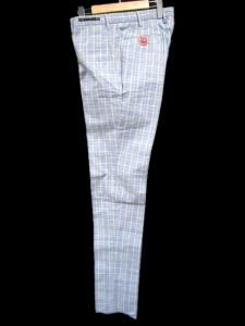 未使用品 ピーティーゼロウーノ PT01 チノパン SUPER SLIM FIT チェック ブルー 50 KGS メンズ