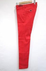 未使用品 ピーティーゼロウーノ PT01 チノパン Chameleon SLIM FIT 赤 44 KGS メンズ ベクトル【中古】