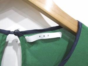 ケイビーエフ KBF アーバンリサーチ ワンピース 半袖 F 緑 LEK 0306 レディース ベクトル【中古】
