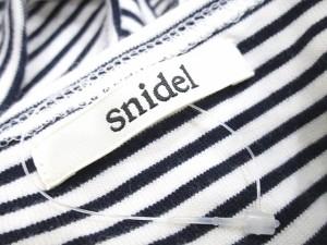 スナイデル snidel カットソー 半袖 ショート丈 ボーダーF 白 紺 LEK 0306 レディース